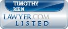 Timothy Rien Lawyer Badge