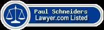 Paul Schneiders Lawyer Badge