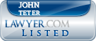 John Teter Lawyer Badge