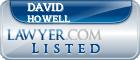 David Howell Lawyer Badge