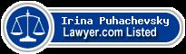 Irina Puhachevsky Lawyer Badge