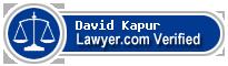 David E Kapur  Lawyer Badge