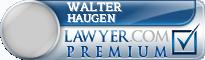 Walter S Haugen  Lawyer Badge