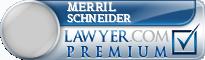 Merril Schneider  Lawyer Badge