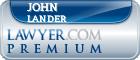 John P Lander  Lawyer Badge