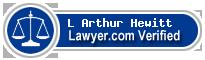 L Arthur Hewitt  Lawyer Badge