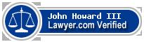John W. Howard III  Lawyer Badge