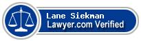Lane Siekman  Lawyer Badge