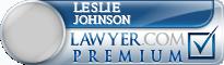 Leslie H. Johnson  Lawyer Badge
