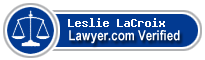 Leslie L LaCroix Jr.  Lawyer Badge