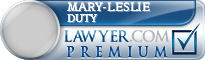 Mary-Leslie Duty  Lawyer Badge