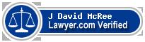 J David McRee  Lawyer Badge