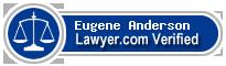 Eugene V Anderson  Lawyer Badge
