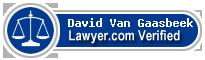 David A Van Gaasbeek  Lawyer Badge