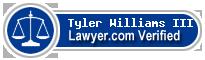 Tyler Williams III  Lawyer Badge