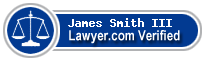 James E Smith III  Lawyer Badge