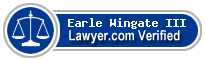 Earle F Wingate III  Lawyer Badge