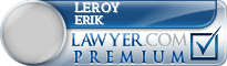Leroy Erik  Lawyer Badge