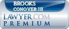 Brooks William Bill Conover III  Lawyer Badge