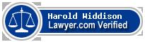 Harold K Widdison  Lawyer Badge