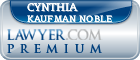 Cynthia Kaufman Noble  Lawyer Badge