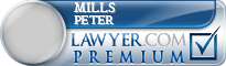 Mills S Peter  Lawyer Badge