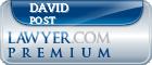 David F. Post  Lawyer Badge