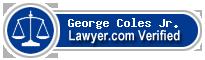 George M. Coles Jr.  Lawyer Badge
