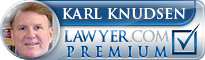 Karl E Knudsen  Lawyer Badge