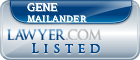 Gene Mailander Lawyer Badge