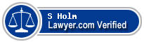 S A Holm  Lawyer Badge