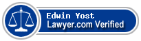 Edwin B Yost  Lawyer Badge