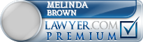 Melinda M Brown  Lawyer Badge