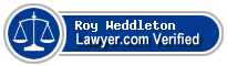 Roy Weddleton  Lawyer Badge