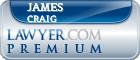 James W Craig  Lawyer Badge