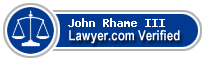 John Rhame III  Lawyer Badge