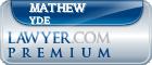 Mathew E Yde  Lawyer Badge