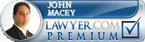 John E. Macey  Lawyer Badge
