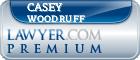 Casey J. Woodruff  Lawyer Badge