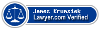 James H. Krumsiek  Lawyer Badge