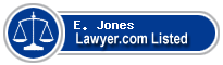 E. Jones Lawyer Badge