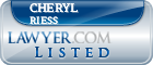Cheryl Riess Lawyer Badge