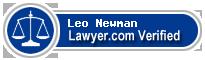 Leo M. Newman  Lawyer Badge