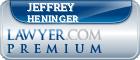 Jeffrey L. Heninger  Lawyer Badge