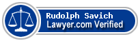 Rudolph Wm. Savich  Lawyer Badge