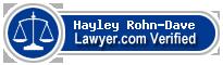 Hayley Rohn-Dave  Lawyer Badge