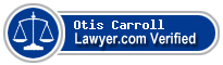 Otis W. Carroll  Lawyer Badge