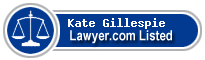 Kate Gillespie Lawyer Badge
