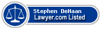 Stephen DeHaan Lawyer Badge