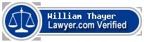 William K. Thayer  Lawyer Badge
